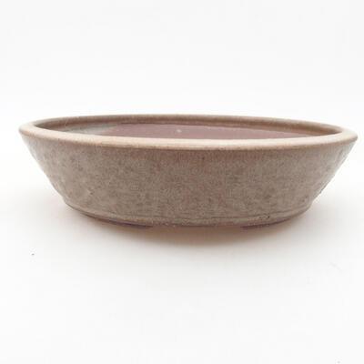 Ceramic bonsai bowl 21 x 21 x 5 cm, color brown - 1