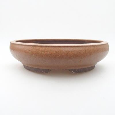 Ceramic bonsai bowl 24 x 24 x 6 cm, color brown - 1