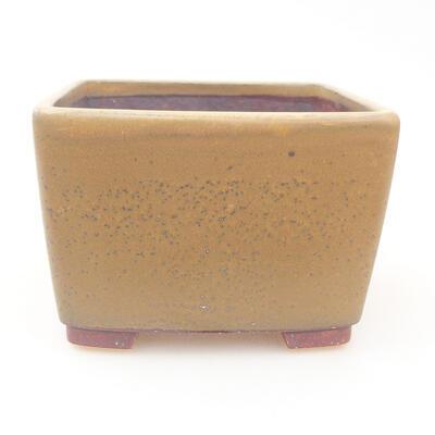 Ceramic bonsai bowl 12 x 12 x 8 cm, color brown - 1