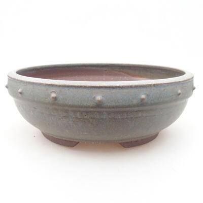Ceramic bonsai bowl 23 x 23 x 8 cm, color blue - 1