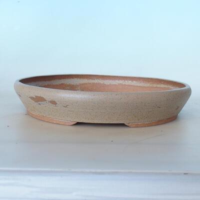 Ceramic bonsai bowl 31 x 31 x 5.5 cm, gray color - 1