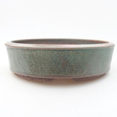 Ceramic bonsai bowl 21 x 21 x 5.5 cm, color green - 1
