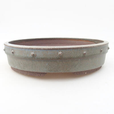 Ceramic bonsai bowl 22 x 22 x 5 cm, color gray - 1