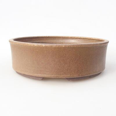 Ceramic bonsai bowl 25 x 25 x 7.5 cm, color brown - 1