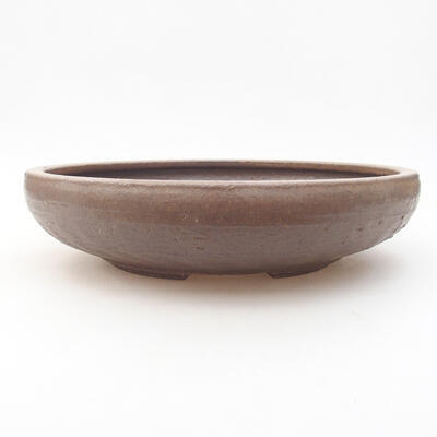Ceramic bonsai bowl 26 x 26 x 6 cm, color brown - 1