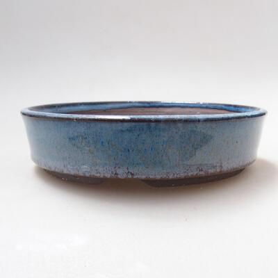 Ceramic bonsai bowl 15.5 x 15.5 x 4 cm, color blue - 1