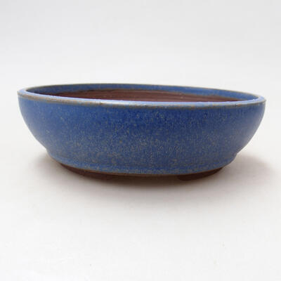 Ceramic bonsai bowl 14.5 x 14.5 x 4.5 cm, color blue - 1