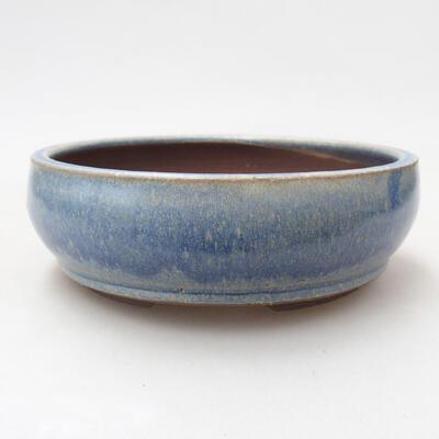Ceramic bonsai bowl 14.5 x 14.5 x 5 cm, color blue - 1