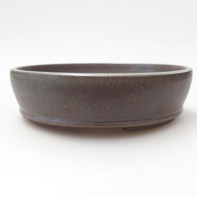Ceramic bonsai bowl 15 x 15 x 4 cm, color green - 1