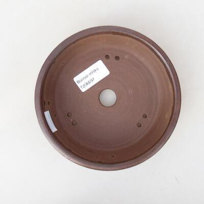 Ceramic bonsai bowl 14.5 x 14.5 x 4.5 cm, brown color - 1