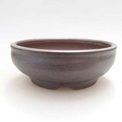 Ceramic bonsai bowl 15 x 15 x 5.5 cm, brown color - 1