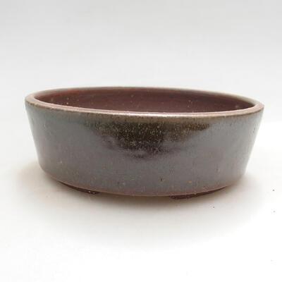 Ceramic bonsai bowl 13.5 x 13.5 x 4.5 cm, color green - 1