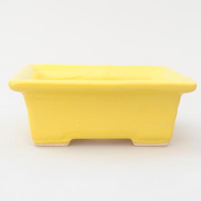 Ceramic bonsai bowl 11,5 x 9 x 4 cm, yellow color - 1