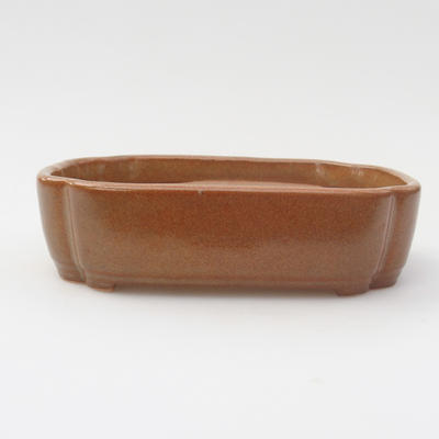 Ceramic bonsai bowl 15,5 x 11 x 5,5 cm, color brown - 1