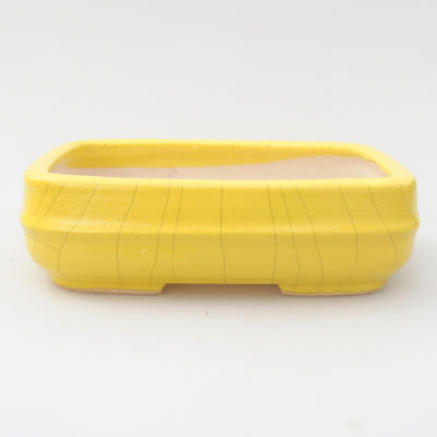 Ceramic bonsai bowl 14 x 10 x 4 cm, yellow color - 1