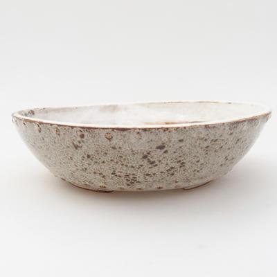 Ceramic bonsai bowl 18 x 18 x 5 cm, color white - 1