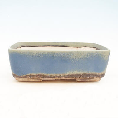 Bonsai bowl 38 x 27 x 12 cm, gray-blue color - 1