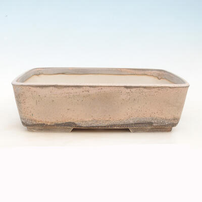 Bonsai bowl 38 x 27 x 11 cm, gray-beige color - 1