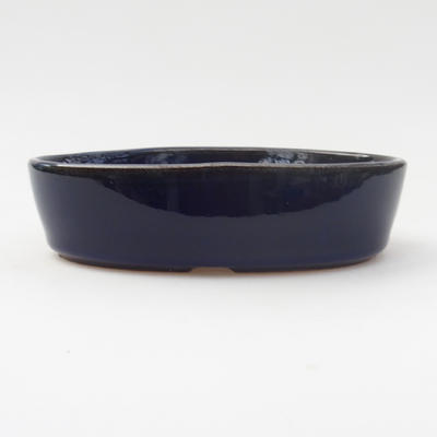 Ceramic bonsai bowl 16 x 11 x 4 cm, color blue - 1