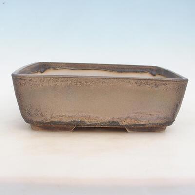 Bonsai bowl 30 x 23 x 10 cm, gray-beige color - 1