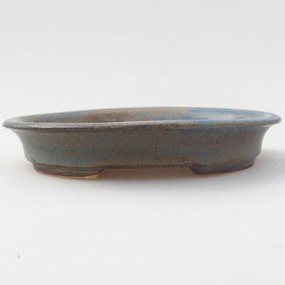 Ceramic bonsai bowl 12.5 x 11 x 2 cm, color blue - 1