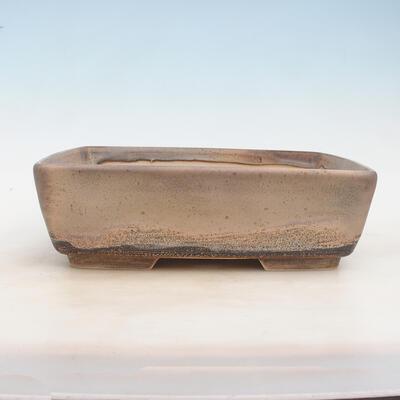 Bonsai bowl 30 x 23 x 9 cm, gray-beige color - 1