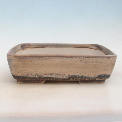 Bonsai bowl 30 x 22 x 8 cm, gray-beige color - 1