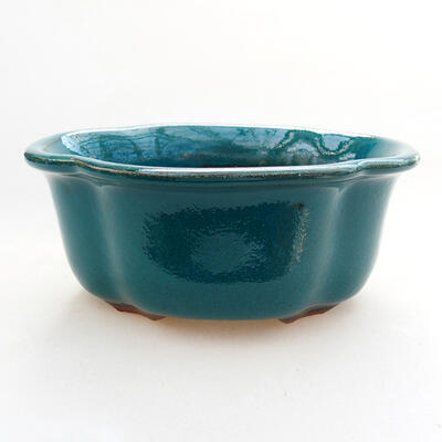 Ceramic bonsai bowl 13 x 11 x 5.5 cm, color green - 1