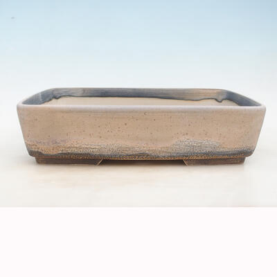 Bonsai bowl 37 x 26 x 9.5 cm, gray-beige color - 1