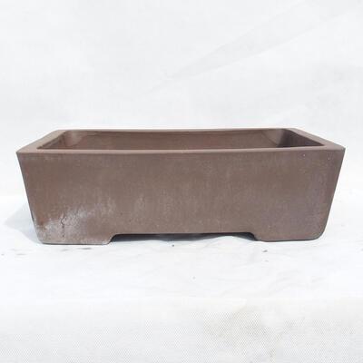 Bonsai bowl 41 x 29 x 12 cm, gray color - 1