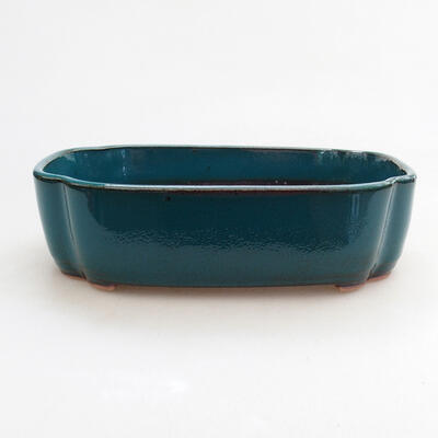 Ceramic bonsai bowl 17.5 x 13.5 x 4.5 cm, color green - 1