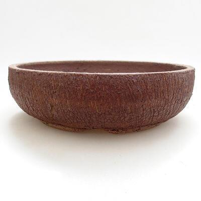 Ceramic bonsai bowl 21 x 21 x 6 cm, cracked color - 1