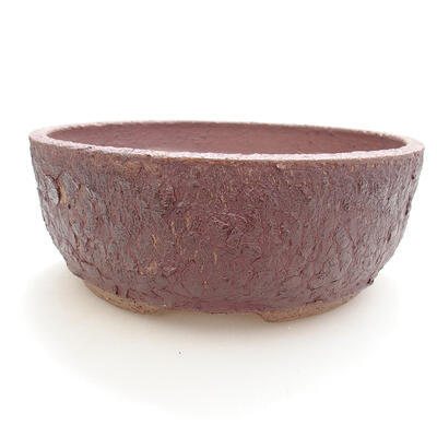 Ceramic bonsai bowl 19.5 x 19.5 x 7.5 cm, cracked color - 1