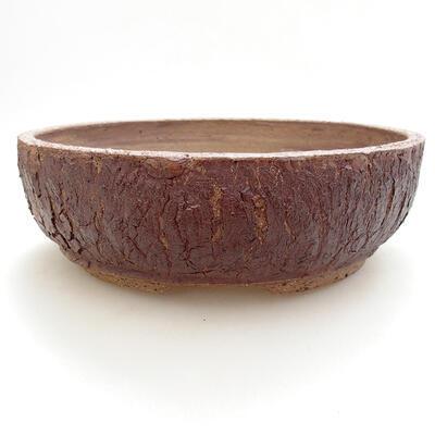 Ceramic bonsai bowl 21.5 x 21.5 x 7 cm, color cracked - 1