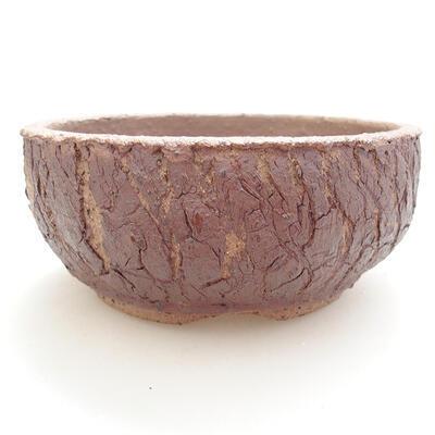 Ceramic bonsai bowl 14.5 x 14.5 x 6.5 cm, color cracked - 1
