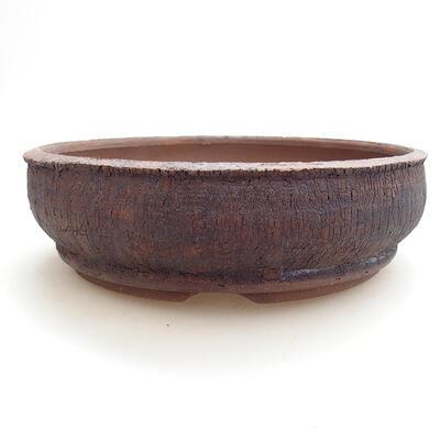 Ceramic bonsai bowl 19 x 19 x 5.5 cm, color cracked - 1