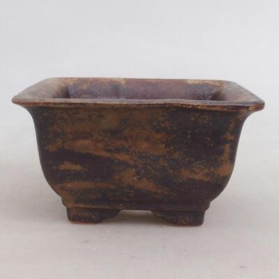Ceramic bonsai bowl 10 x 10 x 5.5 cm, color brown-green - 1