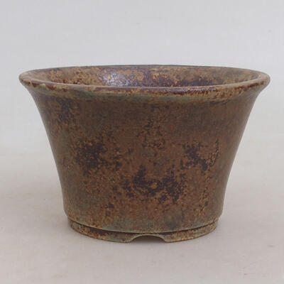 Ceramic bonsai bowl 11 x 11 x 7 cm, color brown-green - 1