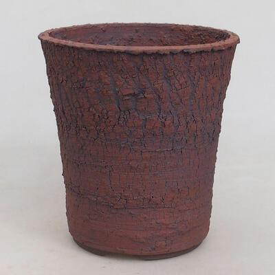Ceramic bonsai bowl 13.5 x 13.5 x 14.5 cm, cracked color - 1