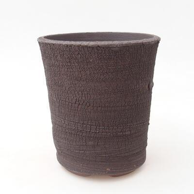 Ceramic bonsai bowl 12 x 12 x 13 cm, color cracked - 1