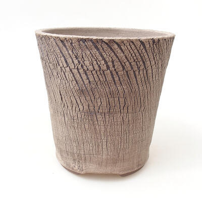 Ceramic bonsai bowl 13 x 13 x 13 cm, color cracked - 1
