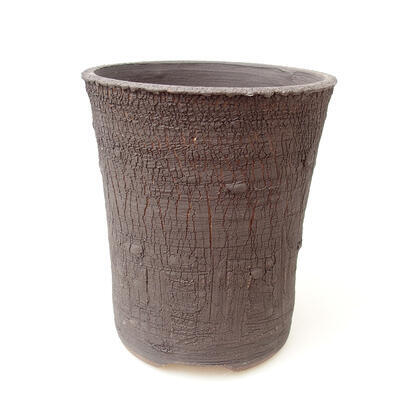 Ceramic bonsai bowl 12.5 x 12.5 x 15 cm, color cracked - 1