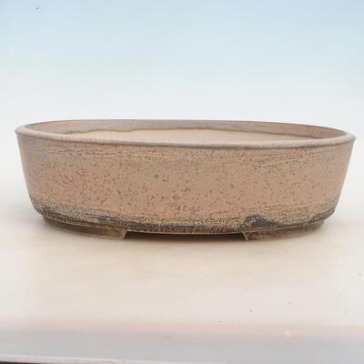 Bonsai bowl 33.5 x 26 x 9.5 cm, gray-beige color - 1