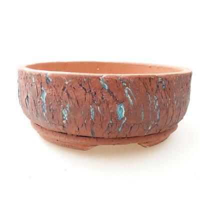Ceramic bonsai bowl 17.5 x 17.5 x 7 cm, color blue - 1