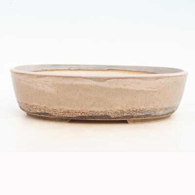 Bonsai bowl 35 x 27 x 9.5 cm, gray-beige color - 1