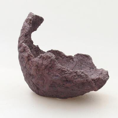 Ceramic Shell 11 x 10.5 x 11.5 cm, gray color - 1