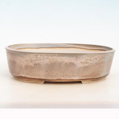 Bonsai bowl 34 x 26 x 9.5 cm, gray-beige color - 1
