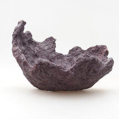 Ceramic shell 18 x 17 x 15 cm, gray color - 1