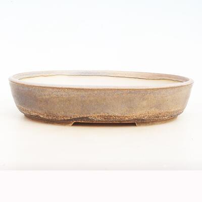 Bonsai bowl 34 x 26 x 7.5 cm, gray-beige color - 1