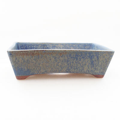 Ceramic bonsai bowl 12 x 9 x 3.5 cm, color blue - 1